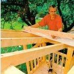 Как сделать крышу домика на дереве