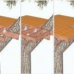 Последовательность отделки пола домика на дереве