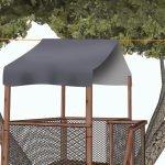 Вариант устройства кровли для домика на дереве