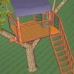 Вариант крыши для домика на дереве