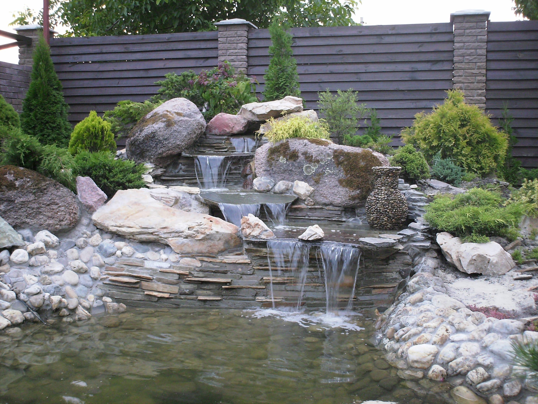 Как сделать водопад в пруду