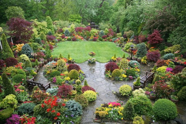Дизайн сада в английском стиле
