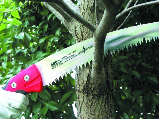 Применение садовой пилки ARS