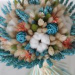 Лагурус в сочетании с хлопком и флористическим декором