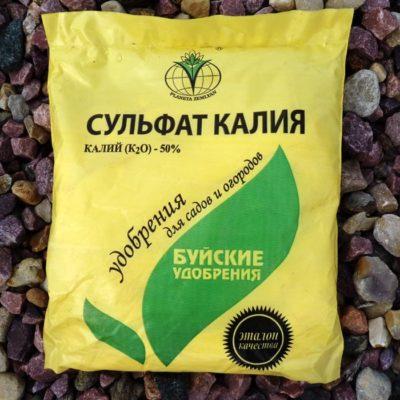 Калийное удобрение в пакете