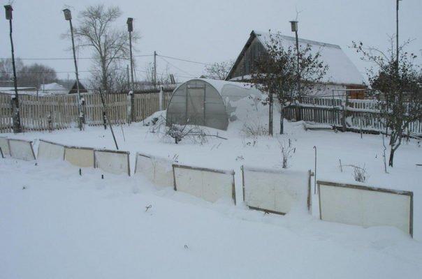 Щиты для снегозадержания