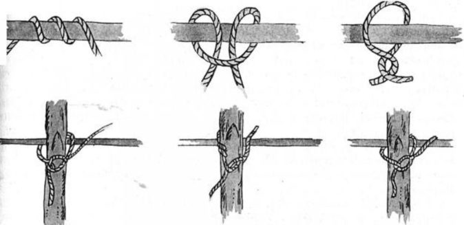 Узлы для подвязки