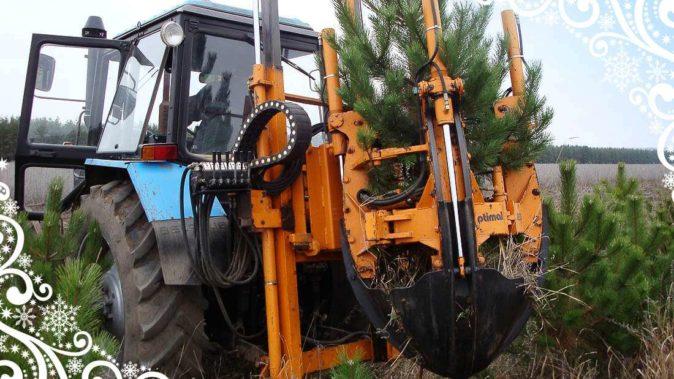 Спецтехника для копки больших деревьев
