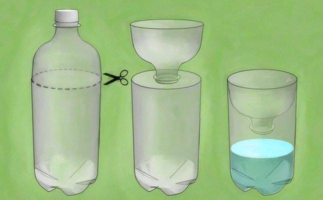 Схема изготовления ловушки для мух