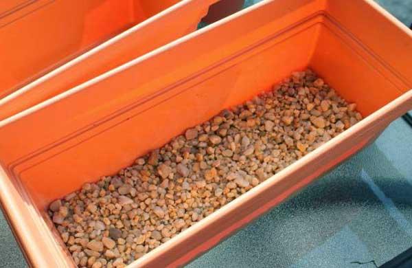 Ящик с дренажом для посадки топинамбура