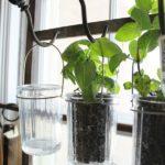 Крепление ведёрок с растениями на крючках