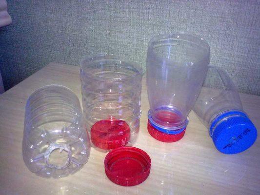 Пластиковые бутылки для защиты рассады